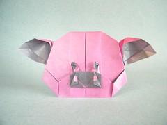 Piggy Head - Xiaoxian Huang (Rui.Roda) Tags: origami papiroflexia papierfalten cochon schwein pig cerdo cerdito porco leitão cabeça tête cabeza piggy head xiaoxian huang