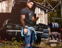 Musclecars are the diamonds for man (RyanTailor (Taking Clients)) Tags: aitui clefdepeau ascend re kalback man men boy guy gay homme outdoor secondlife virtualworld dappa tattoo fashion freckles skin lelutka