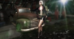RUNNING OUT OF GAS (Rachel Swallows Inworld Elenamicheals Core) Tags: belleza biker fashion haveunequal maitreya secondlife slink vtwins