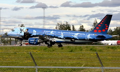 Brussels OO-SNC,  OSL ENGM Gardermoen (Inger Bjørndal Foss) Tags: oosnc brussels airbus a320 osl engm gardermoen