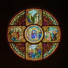 Chapel: The Story of the Cross (Whidbey LVR) Tags: lyle rains lylerains olympus em5ii museum morse orlando winter park florida tiffany glass louis comfort 1893 columbian exposition chicago stainedglass stained religious christian window leaded
