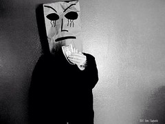 Baghead (2015) (horrorofgino) Tags: gothic photography white black ginovaglivielo pimp cash artistic bags paper mask gangster money