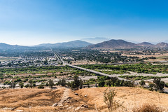 View of City of Riverside and Highway 60 from Mount Rubidoux (SCSQ4) Tags: california cityview favorite favoritepicture freeway hazy highway60 hike mountrubidoux mountainview mountains photohike riverside roads view