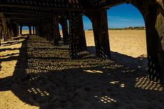 Auriferous (subterraneancarsickblues) Tags: lancashire coast beach seaside pier stannespier landingjetty stannes fylde canon 6d eos6d 1635mm f4l lseries shadows