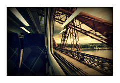 Spare seat for a High Roller (david.hayes77) Tags: forthbridge firthofforth scotland scotrail queensferry hst highspeedtrain 43139 class43 carriage highroller spareseat 1b35 arty cantileverbridge girders 2019 reflections