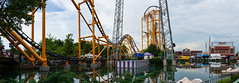 Lagoon view (kwtracyghostship) Tags: kwtracyghostship westernpa alleghenycounty commonwealthpa kennywooditalianday2019 westmifflin pennsylvania unitedstatesofamerica summer fun coaster yellow new design structure panorama