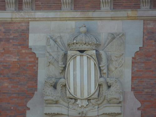 Palau del Parlament de Catalunya - Plaça de Joan Fiveller - Parc de la Ciutadella, Barcelona - coat of arms