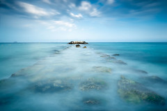 La-Vila (invesado) Tags: sea blue long exposure stones calm silk nikon d750 vila joiosa spain alicante summer