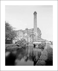 The  Lift Bridge, Huddersfield Broad Canal (oldeyes47) Tags: 8x10 film fomadon fomapan100 lenslessphotography westyorkshire huddersfieldbroadcanal filmphotography pinholecamera pinholephotography largeformat
