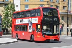 YX18 KSU (EH249) Go-Ahead London Central (hotspur_star) Tags: londontransport londonbuses londonbus londonbuses2019 alexanderdennisltd enviro400hmmc tfl transportforlondon hybridbus hybridtechnology busscene2019 doubledeck goaheadlondoncentral yx18ksu eh249 172