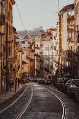 Streets of Lisbon 001 (mpiuhola) Tags: tram lisbon street car streetphotography cityscape architecture dusk portugal