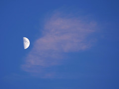 Kiss the moon (Nevrimski) Tags: cloud mask half moon