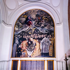 pintura Entierro del Conde de Orgaz El Greco Iglesia Santo Tome Toledo 02 (Rafael Gomez - http://micamara.es) Tags: pintura entierro del conde de orgaz el greco iglesia santo tome toledo