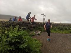Leaping over the Wall (Pyrolytic Carbon) Tags: reboot trailrunning trailrun balernobeginners5k balerno runners mobile stile signpost mist pentlands pentlandhills hills