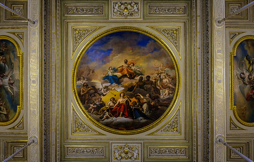 A Ceiling Detail in The Hermitage, St Petersburg