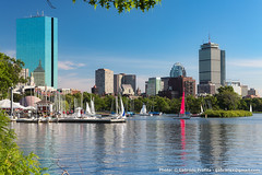 Boston - Charles River view (gabriele83) Tags: boston charlesriver reflection buildings architecture river skyscraper landscape water sailing pier city usa skyline prudential tower interior design