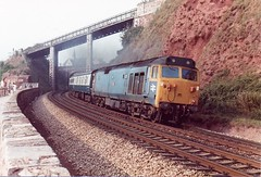 50046 Teignmouth September 1982 (clivepsmithmarch1960) Tags: 50046 teignmouth seawall