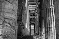 Athenian Acropolis, Greece (Out Of The Map) Tags: greece train blackandwhite black bw white blanc noir monochrome athens summer2019 corinthian architecture building classic classical absoluteblackandwhite old historical history explore travel tripeurope europe sky people photoadd