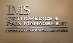 Dimensional Logo Lettering Medical Office 04 (Sir Speedy Glendale AZ) Tags: dimensional logo lettering medical office brushed metal reflective silver