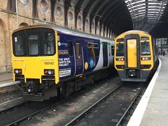 Northern Class 150 (150142) & Class 158 (158752) - York (saulokanerailwayphotography) Tags: northern class158 expresssprinter class150 sprinter 150142 158752