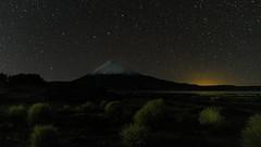 Parinacota Volcano at night (Andres Puiggros) Tags: d500 altiplano arica chile lauca nature nikon travel night nightscape milkyway sky stars chungara lake andes 15mm irix