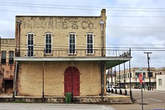 H. Runge & Co. - Cuero, Texas. (Rob Sneed) Tags: usa texas cuero hrungeco building architecture vintage ghostsign sign smalltown urban business commercial 19thcentury facade