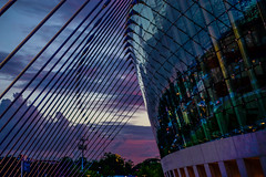 Evening Shade (KC Mike Day) Tags: evening colors kauffman center performing arts poles
