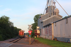 Poskin Mill (view2share) Tags: cn2118 cn canadiannational l519 519 cn519 cnl519 poskin barronsub generalelectric ge c408 barroncounty yard wisconsin wi summer sunset sundown sunshine switch switching switches deansauvola sand sandmining fracsand frac june292019 june2019 june 2019 railway rr railroading railroads railroad rail rails railroaders rring roadtrip restoration rural rebuild rrcar freightcar freighttrain freight track transportation trains tracks transport trees travel trackage trackmaintenance train local locomotive westernwisconsin midwest mill feedmill elevator smallbusiness ag agriculture architecture farm farming