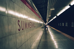 Summerhill (Howard Yang Photography) Tags: subway underground metro summerhill toronto ttc ishootfilm filmisnotdead filmphotography nikonfm nikon kodakportra400