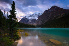 Into the Wild, Jasper, Alberta (Scott Rubey) Tags: canada mountains alberta park sunset lake snow green clouds sunrise rockies jasper quiet peaceful stormy canadian glacier wilderness edith rugged cavell glacial