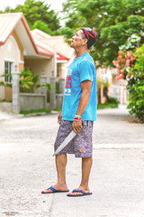 Patrocinio Aka Pathy (vincent.lecolley) Tags: asia philippines man standing hat pirate knife asian filipino nikon 50mm