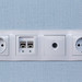 Sockets with antenna cable and internet