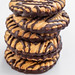 Slide with shortbread cookies with chocolate stripes