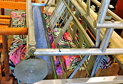 Colourful fabric (Will S.) Tags: textile fabric colourful loom mypics machine machinery machines carding combing mississippivalleytextilemuseum rosamundwoollencompany formeroffices formerfactory former offices factory almonte ontario canada sheep wool tool tools