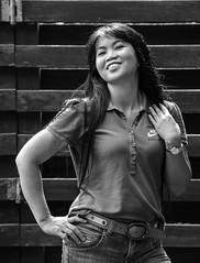 Marisa (Taiwan) (su4jsus) Tags: color asia taiwan taipei yangminshan poses contrast brightdays green blackandwhite people portrait filipino environmental