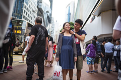 Street scene (人間觀察) Tags: 28mm f14 7artisans 七工匠 leica leicam hong kong street photography people candid city stranger public space walking off finder road travelling trip travel 人 陌生人 街拍 asia girls girl woman 香港 wide open