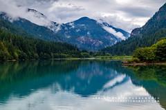 Tranquility (rkpunnamraju) Tags: reflection clouds nationalpark nps mountains lake greatphotomoments landscape washington diablolake northcascade