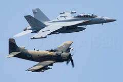 TAILHOOK LEGACY (Kaiserjp) Tags: airforce fighter jet military aviation freedomfair vapor vapeoff avgeek navy tailhook vaq129 ea18g f18 superhornet growler skyraider a1