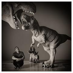 Uh Oh! (_Matt_T_) Tags: selfie trex af540fgz apolloorb43 dinosaur steggy 365 bw cactusv6 westcott dailyinjuly