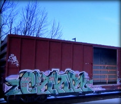 char (timetomakethepasta) Tags: char freight train graffiti art open boxcar snc