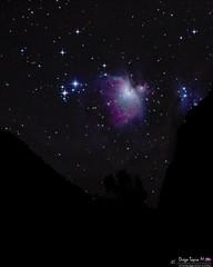 The Orion Nebula between the hills of Cajon del Maipo (diegotapiamontaner) Tags: astropicsaustral astronomy astrophotography sonyalpha deepsky cajondemaipo astronomiachile orionnebula visitsouthamerica igerschile longexpo longexposurephotos chilegram instachile starrynight chilebloggers landscape