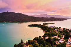 Worthersee (Martin Hlinka Photography) Tags: austria worthersee sunset water nature landscape mountain