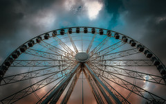Heavens Above (RTA Photography) Tags: rivierawheel torquay outdoors sky clouds up ferriswheel nikon tamron rtaphotography light wide sunset dusk evening