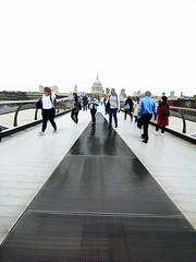 Walking Not Talking (Steve Taylor (Photography)) Tags: architecture digitalart bridge contrast uk gb england greatbritain unitedkingdom london dome lines perspective walking milleniumbridge stpauls