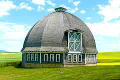 T.A. Leonard Round Barn (dmeeds (on and off)) Tags: leonardbarn palouse
