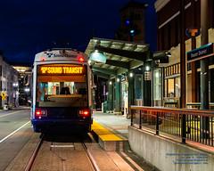 Sound Transit Tacoma Link at Theater District Station About to Start Last Run (AvgeekJoe) Tags: 1835mmf18dchsm d7500 dslr nikon nikond7500 piercecounty sigma1835mmf18 sigma1835mmf18dchsmart sigma1835mmf18dchsmartfornikon sigmaartlens soundtransit soundtransittacomalink tacoma tacomalink tacomastreetcar tacomatrolley trolley usa washington washingtonstate bluehour masstransit masstransportation publictransit publictransportation streetcar