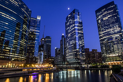 chicago (GuyBerresfordPhotography.co.uk) Tags: chicago city bluehour night water reflection cityscape