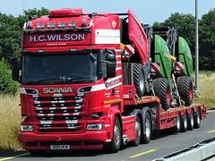 Scania R580 topline from H.C. Wilson Elmswell Suffolk United Kingdom. (capelleaandenijssel) Tags: r100hcw truck trailer lorry camion lkw uk gb england heavy haulage