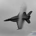 NICE VAPOR CLOUD ON A F/A-18E HIGH SPEED BUZZ