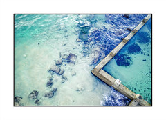 Aerial abstract of ocean and rock pool (sugarbellaleah) Tags: ocean background blue pool rockpool water vacation waves coogee beach holiday travel seaside abstract aerial coast rocks boundary sand tide tourism backpacker location place destination australia ripples vibrant newsouthwales